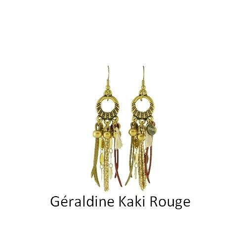 Geraldine: Pierced ears bronze and leather bouclesdoreillesgeraldinekakirouge