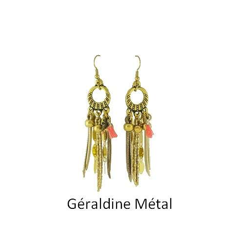 Geraldine: Pierced ears bronze and leather bouclesdoreillesgeraldinemetal